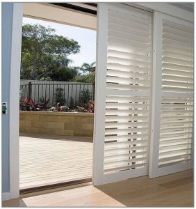 Shutters sliding glass doors commercial roller shutters adelaide plantation shutters are a useful and attractive way to outfit any sliding glass door sliding glass doors always at hand a challenge to cover as they should planetlyrics Images